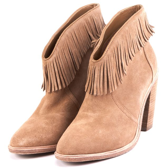 JOIE Beige Suede Ankle Boot Boots