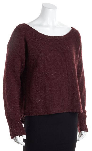 JOIE Burgundy Red Crewneck Sweater
