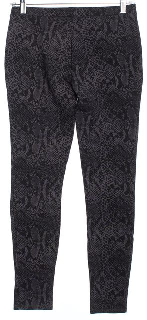JOIE Black Faux Snakeskin Printed Leggings