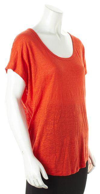 JOIE Orange Linen Blouse Top