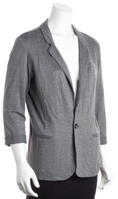 JOIE Heather Gray One-Button Rolled Cuff Blazer