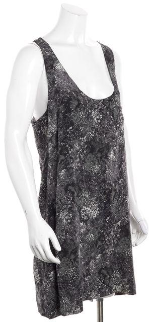 JOIE Gray Abstract Silk Shift Dress
