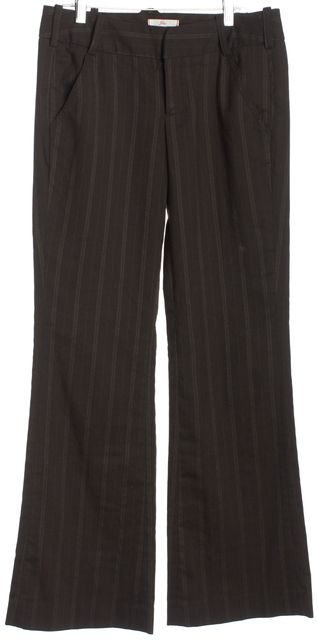 JOIE Brown White Orange Striped Dress Pants