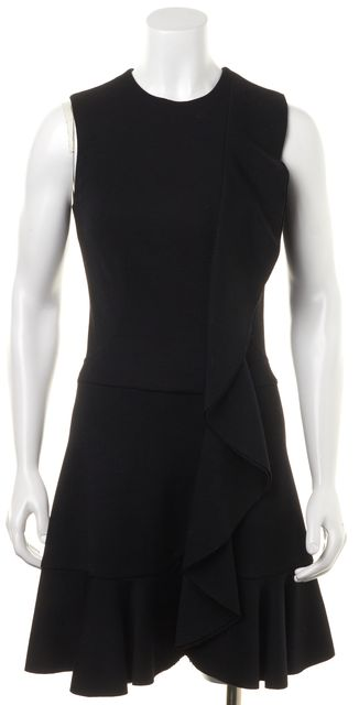 JOSEPH Black Wool A-line Dress