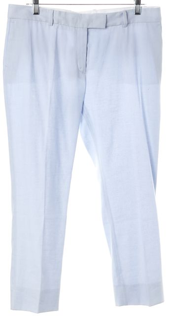 JOSEPH Light Blue Linen Stretch Bing Court Trousers Pants