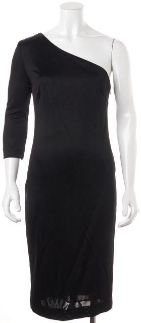 JOSEPH Black One Shoulder Dress US 8 FR 40