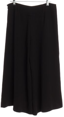 JEAN PAUL GAULTIER Black Wide Leg Cropped Pants