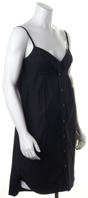 JEAN PAUL GAULTIER Black Button Down Sheath Dress