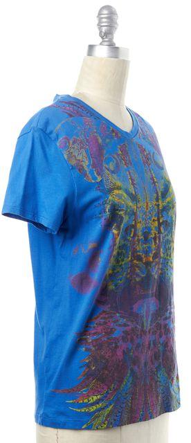 JUST CAVALLI Blue Graphic Tee T-Shirt