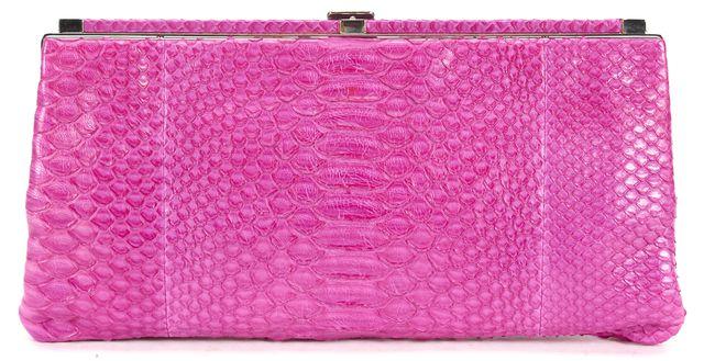 JASON WU Hot Pink Python Lauren 7 Clutch