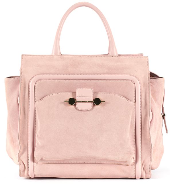 JASON WU Baby Pink Suede Leather Trim Daphne East West Tote