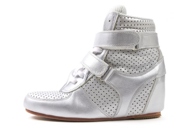 JUNYA WATANABE Silver Leather Wedges Sneakers
