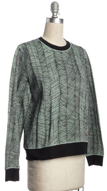 KENZO Green Black Printed Cotton Long Sleeve Crewneck Sweatshirt Sweater