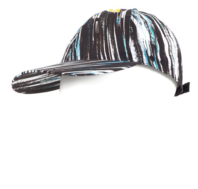 KENZO Black White Blue Abstract Cotton Baseball Cap