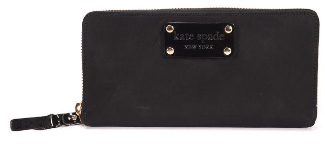 KATE SPADE Black Nylon Zip Around Neda Wallet