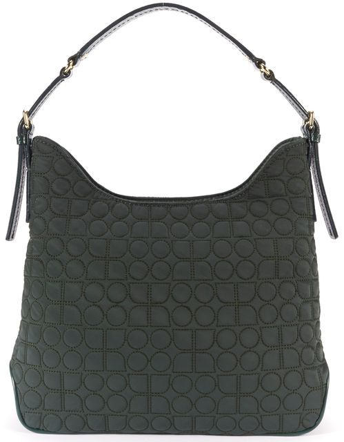 KATE SPADE Green Geometric Quilted Shoulder Bag
