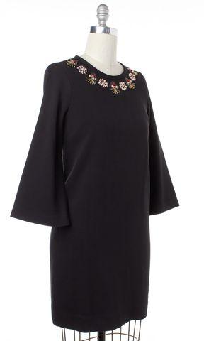 KATE SPADE Black Embellished Beaded Shift Dress Size 6