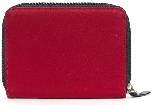KATE SPADE Red Nylon Zip Around Wallet