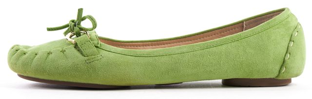 KATE SPADE Green Suede Leather Tassel Flats