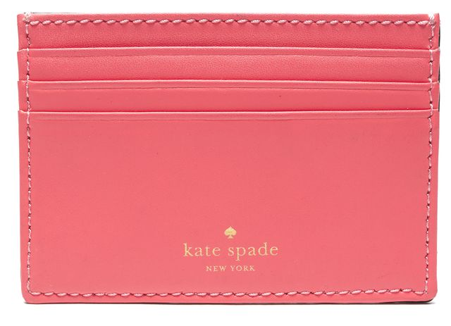 KATE SPADE Authentic Pink Leather Card Case