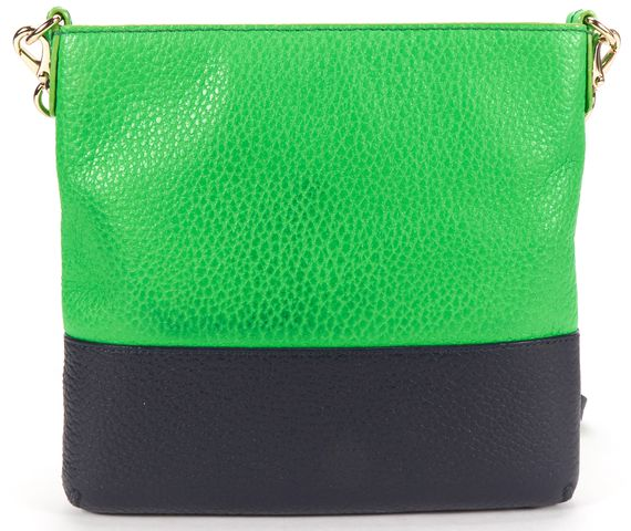 KATE SPADE Authentic Green Blue Leather Basic Victoria Crossbody Bag