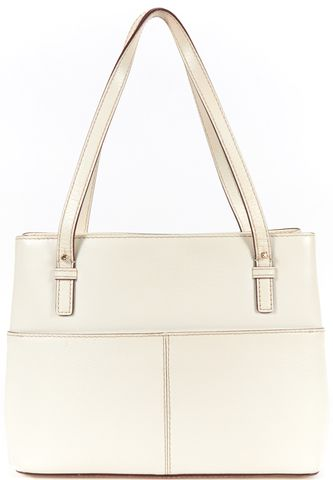 KATE SPADE Authentic White Textured Leather Grand Street Small Gabriel Tote Bag