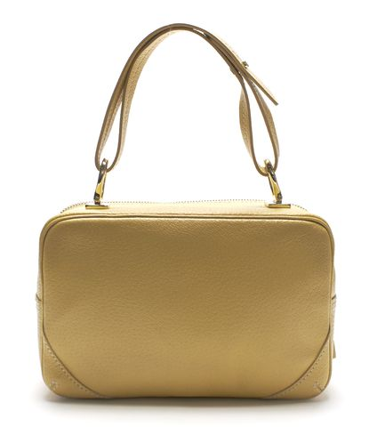 KATE SPADE Authentic Beige Leather Textured Top Handle Bag