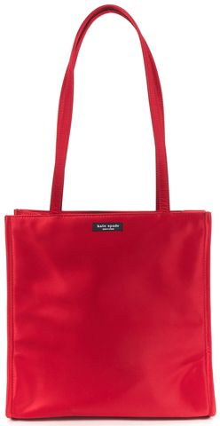 KATE SPADE Authentic Red Satin Tote Bag