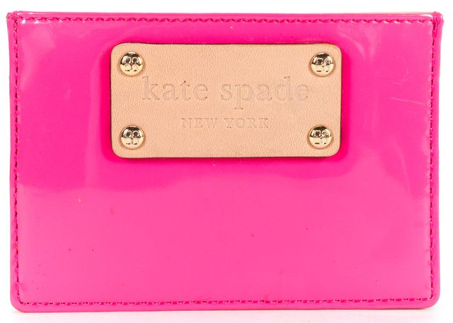 KATE SPADE Authentic Pink Patent Leather Card Case