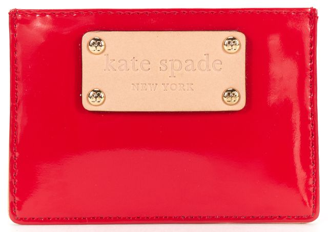 KATE SPADE Authentic Red Patent Leather Card Case