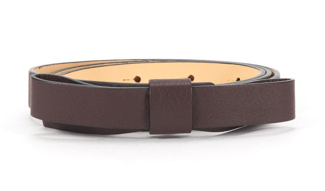 KATE SPADE Brown Leather Bow Detail Belt Size S