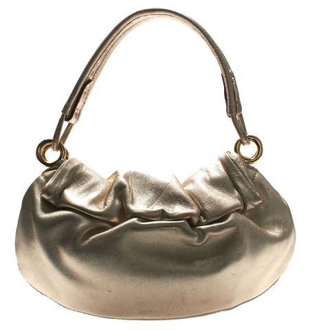 KATE SPADE Authentic Gold Leather Evening Shoulder Bag