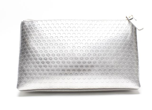 KATE SPADE Authentic NWT Silver Leather Shiloh Cosmetic Bag