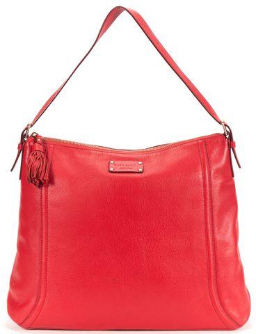 KATE SPADE Red Pebbled Leather Shoulder Bag