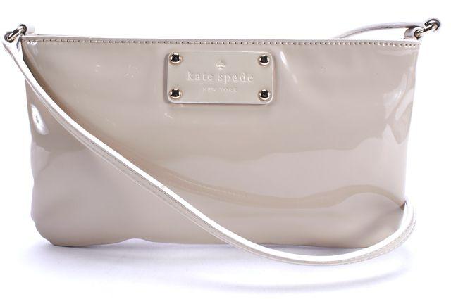 KATE SPADE Ivory Patent Leather Crossbody Bag