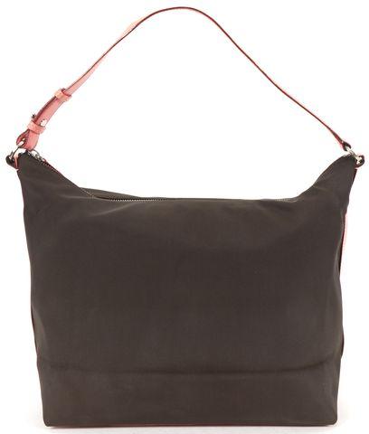 KATE SPADE Brown Nylon Pink Leather Hobo Bag