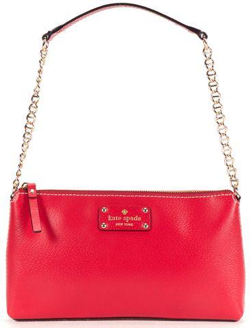 KATE SPADE Red Leather Shoulder Bag