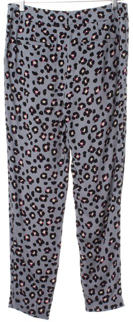 KATE SPADE Gray Multi Floral Trousers Pants