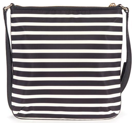 KATE SPADE Black White Striped Crossbody Bag