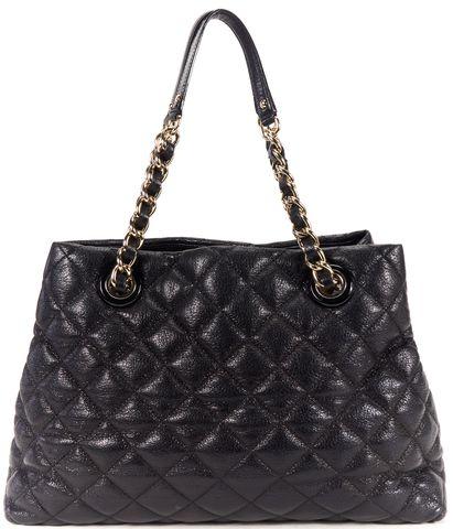 KATE SPADE Black Leather Gold Tone Chain Shoulder Bag