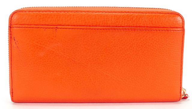 KATE SPADE Orange Pebbled Leather Zip Around Wallet