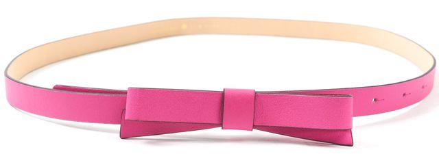 KATE SPADE Pink Leather Bow Skunny Belt
