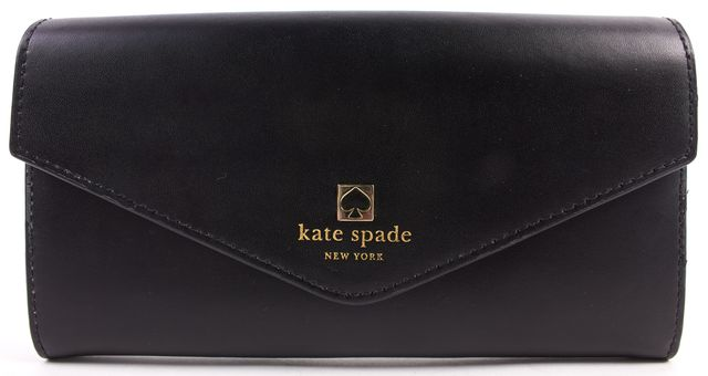 KATE SPADE Black Leather Continental Wallet