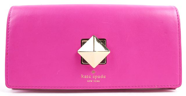 KATE SPADE Pink Leather Cyndy Continental Wallet