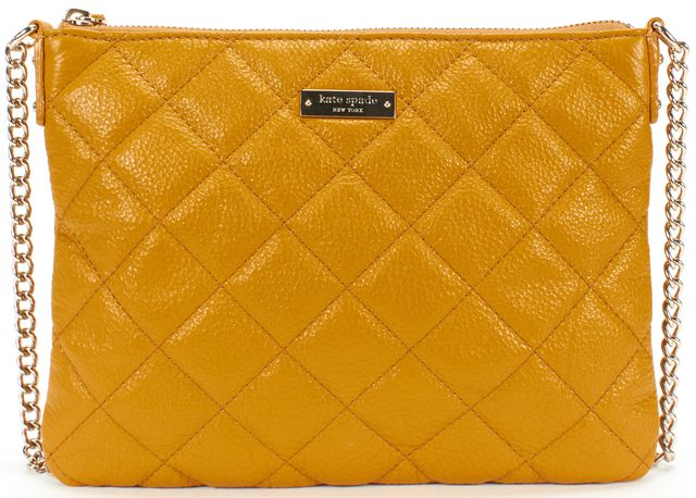 KATE SPADE Mustard Quilted Leather Chain