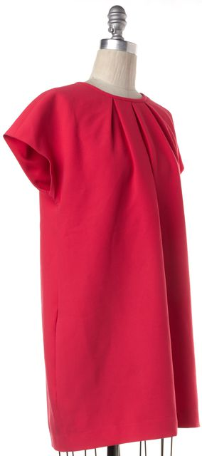KATE SPADE Hot Pink Cap Sleeve Pleated Neck Mini Shift Dress