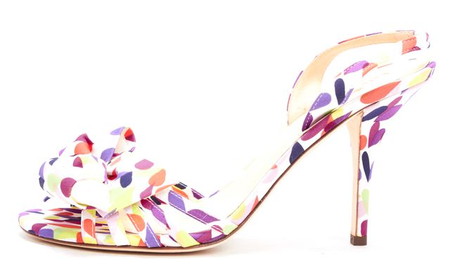 KATE SPADE Multi-Color Heart Print Slingback Pump Heels