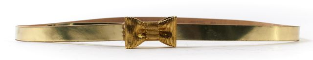 KATE SPADE Gold Leather All Wrapped Up Bow Belt