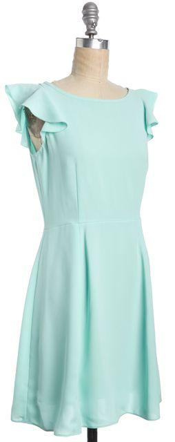 KATE SPADE Mint Green Fit & Flare Flutter Sleeve Knee Length Dress