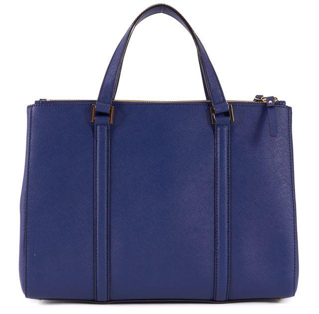 KATE SPADE Blue Saffiano Leather Loden Satchel Tote Shoulder Bag